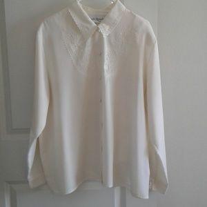 Claudia Richard long sleeve blouse sz 18